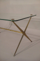 Very elegant gilt metal X frame glass top occasional table, French c1950 - picture 1