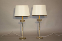 A pair of silver table lamps - picture 1