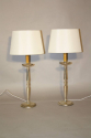A pair of silver table lamps - picture 2