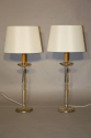 A pair of silver table lamps - picture 3