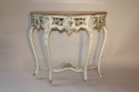 French painted console with marble top - picture 1