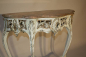 French painted console with marble top - picture 2