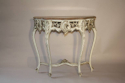 French painted console with marble top - picture 3