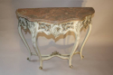 French painted console with marble top - picture 4