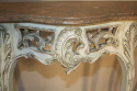 French painted console with marble top - picture 5