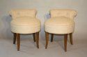 French 1950`s buttoned petite chairs - picture 3
