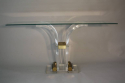 Lucite console with glass top - picture 1