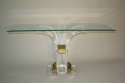 Lucite console with glass top - picture 2
