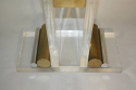 Lucite console with glass top - picture 3