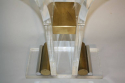 Lucite console with glass top - picture 4