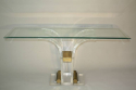 Lucite console with glass top - picture 5