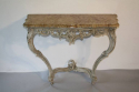 Painted carved wood and marble top console - picture 1