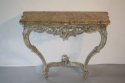 Painted carved wood and marble top console - picture 2
