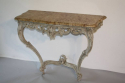 Painted carved wood and marble top console - picture 4