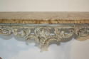 Painted carved wood and marble top console - picture 6