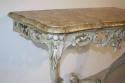 Painted carved wood and marble top console - picture 7