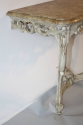 Painted carved wood and marble top console - picture 9