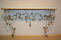 A pair of Italian Florentine metal floral and marble consoles - picture 1