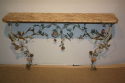 A pair of Italian Florentine metal floral and marble consoles - picture 2