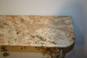 A pair of Italian Florentine metal floral and marble consoles - picture 6