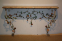 A pair of Italian Florentine metal floral and marble consoles - picture 7