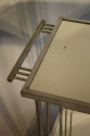 Art Deco silver metal and mirror two tier side table, French c1930 - picture 6