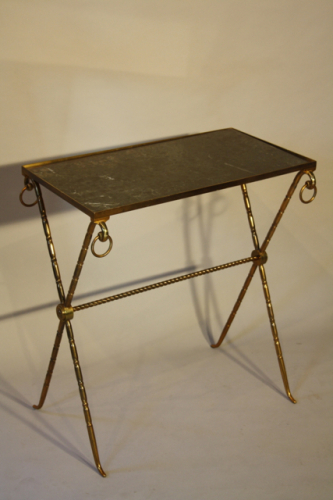 Bamboo gilt metal side table