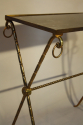 Bamboo gilt metal side table - picture 2
