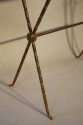Bamboo gilt metal side table - picture 3