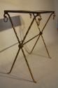 Bamboo gilt metal side table - picture 4