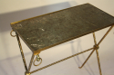 Bamboo gilt metal side table - picture 5