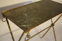Bamboo gilt metal side table - picture 6