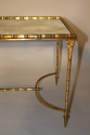 Gilt metal bamboo occasional table, attributed to Maison Bagues, French c1950 - picture 1