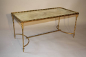 Gilt metal bamboo occasional table, attributed to Maison Bagues, French c1950 - picture 2