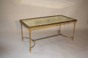 Gilt metal bamboo occasional table, attributed to Maison Bagues, French c1950 - picture 6
