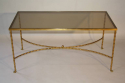 A gilt metal bamboo coffee table, French c1970 - picture 1