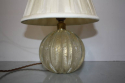 Murano gold flecked glass ball table lamp. Italian c1950 - picture 1