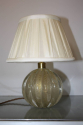 Murano gold flecked glass ball table lamp. Italian c1950 - picture 2