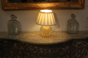 Murano gold flecked glass ball table lamp. Italian c1950 - picture 3