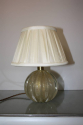 Murano gold flecked glass ball table lamp. Italian c1950 - picture 4