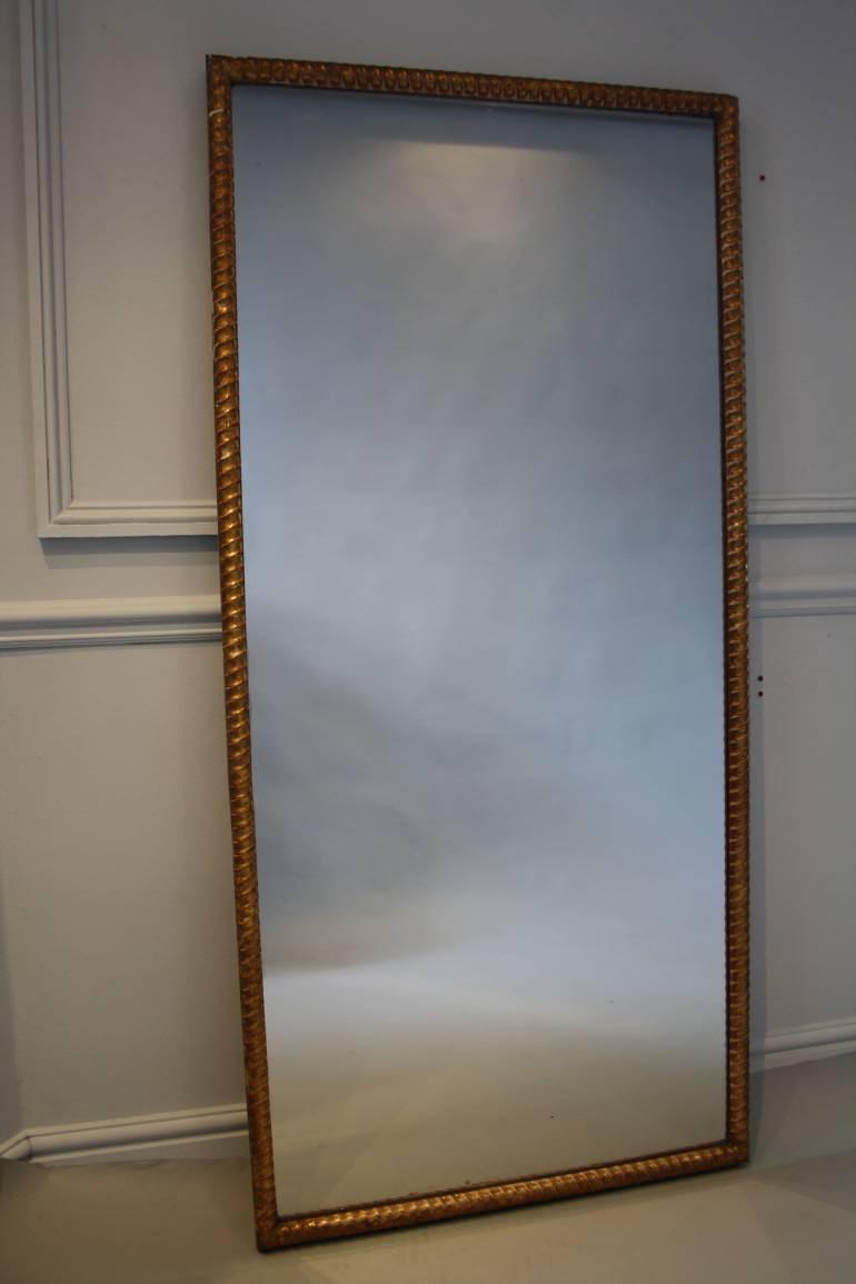 French Antique rope twist gilt wood mercury mirror c1830.