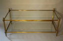 Solid two tier gilt metal rectangular coffee table - picture 1