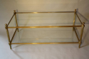 Solid two tier gilt metal rectangular coffee table - picture 3