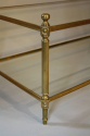 Solid two tier gilt metal rectangular coffee table - picture 4
