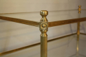 Solid two tier gilt metal rectangular coffee table - picture 5