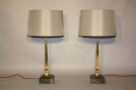 Pair of brass and marble table lamps - picture 2