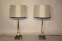Pair of brass and marble table lamps - picture 3