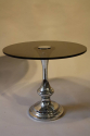 1970`s glass and chrome circular end tables - picture 2