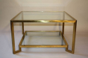 1960`s Italian square two tier brass coffee table - picture 1