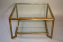 1960`s Italian square two tier brass coffee table - picture 2